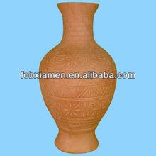 Antique Floral Pattern Terracotta Flower Garden Vase