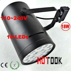 18W LED Track light Rail Lamp Lighting 110~240V