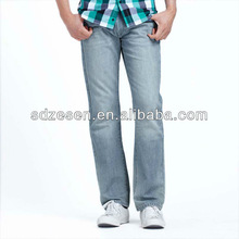 latest pictures of jeans narrow bottom wash jeans for men jeans decoration