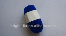 blue color hand knitting / Acrylic yan