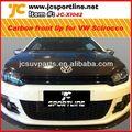 Para vw scirocco jc estilo fibra de carbono lábio pára-choque dianteiro de carbono auto carro lip lip frontal