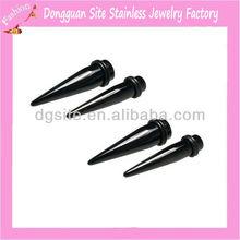 Ear taper body piercing jewelry black ear taper