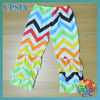 2013 New fashion design waves agaric and trousers for kids boutique long and ruffle chevron pants