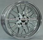aluminium car wheel rims with machine cut face ,machine cut lip ,V-CH ,chrome ,polish.