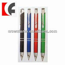 Retractable feature metal body ballpoint pens
