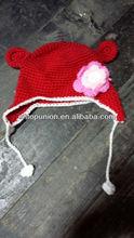 Red Bear crochet hat Baby Boy/Girl Crochet Owl Animal Beanie Hat cute baby crochet hat