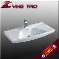 bathroom counter top ceamic wash hand cabinet basin