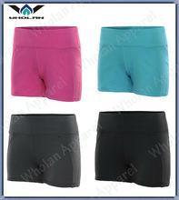 Prémio confortável Tactel / Lycra Yoga Shorts / ativo Yoga desgaste por atacado