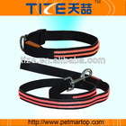 2014 Top quality LED usb Dog collars and leash with factory cheap price TZ-PET5002