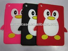 New & Elegant Penguin design silicon case protector For Apple Ipad Mini