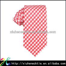 100% Silk woven Orange Striped Necktie