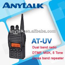 AT-UV handheld dual band 2-way radios with cross band repeater function