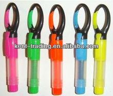 wholesale fluorescent pen travel set highlight pen with buckle childen pen