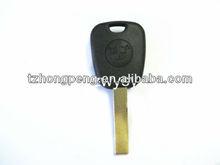 uncut blade transponder key shell & car chip key for BMW factory direct