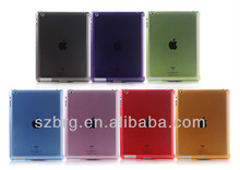 Popular Plastic back cover case for ipad 2 3 4( paypal Best partner for smart cover )