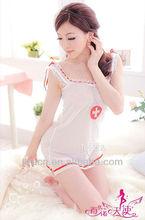 US137 Wholesale Transparent Alice in Wonderland Costume Cute Nurse Sleepwear