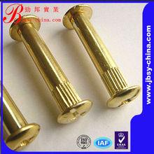 Brass furniture connecting screws