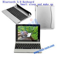 Smart Sleep and Wake Up Magnetic Side Flip Bluetooth 3.0 Keyboard for Apple Tablet iPad