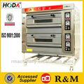 Double deck horno de panadería ycq-2-4d arábica fabricante del pan