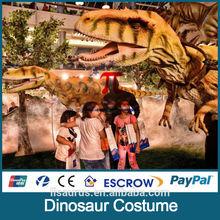 Lisaurus-L0086 rubber dinosaur clothes ,dinosaur suit for export
