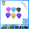 beautiful metal heart shape dog tag pendant for engraving