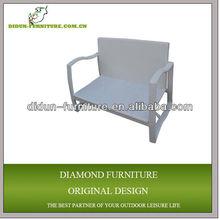 2 seats outdoor rattan chair