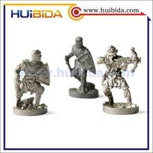 3D small trophy figures metal, metal soldier figure