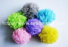 colorful useful mesh bath sponge bath scrubber puff