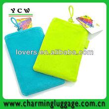 Velvet mobile phone bag/mobile phone pouch/cell phone case