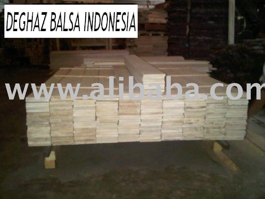 Chapa de madera de balsa, palo de madera de balsa, bloque de madera de balsa, madera de balsa de indonesia