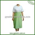 Ap-i verde longa algodão avental de cintura para as mulheres