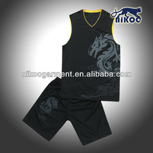 Fashion Quick-dry Sublimated Basketball Jersey/Short Team Uniform in High Quality