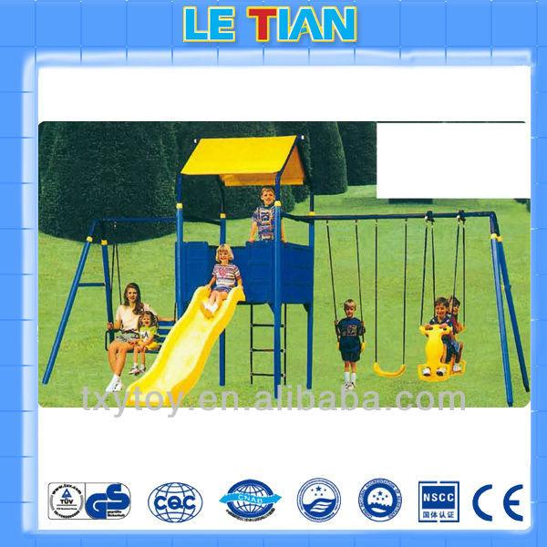 Outdoor plastic swing and slide LT-2112E