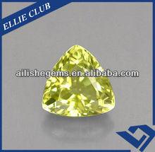 excellent quality trilliant cutting triangle shape korea machine made CZ semi precious stones for arts and gift