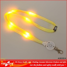 manufacturer for promotion led lanyard pen,ball pen with led lanyard