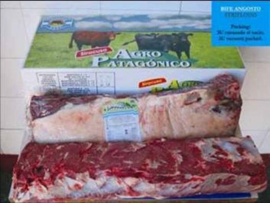 Frozen beef cuts