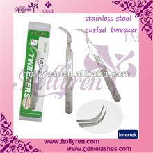 Tweezer for eyelash extension,curved tweezers,stainless steel tweezers