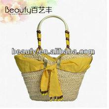 2014 style fashion women beach tote straw bags wholesale