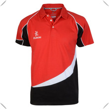 Cheap Moisture wicking dry fit technical functional RED/BLACK/WHITE POLO shirt wholesale