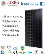 190W mono pv solar panel