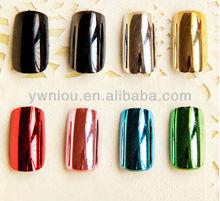 Metallic Colorful Complete Full Fingernail Kit Nail Art Tips
