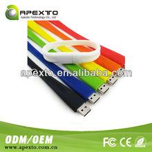 4GB 8GB 16GB Capacity colorful silicone bracelet usb drive