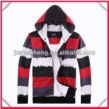 2013 shinning colours mix striped men custom hoodies