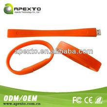 Care USB colorful USB 2.0 silicone usb medical bracelet
