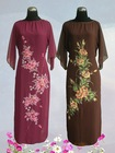 Chiffon Georgette Hand Painted Abaya