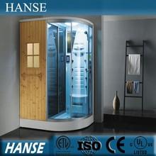 HS-SR2251T 1.7m tempered glass sauna bath indoor steam shower room