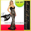 Hot Sale Long Good Quality Lace Beaded Sexy Big Girls Evening Party Dress