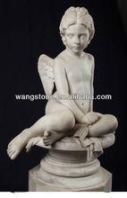 Western angel boy stone sculpture