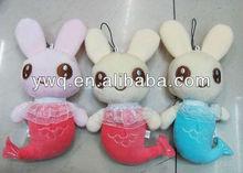 2014 fashion plush cute little mermaid,lovely rabbit toys ,pretty plush rabbit, Plush christmas gifts,teddy bear