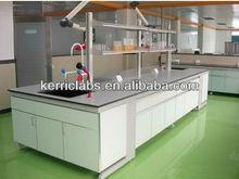 Steel wood laboratory island work bench For university